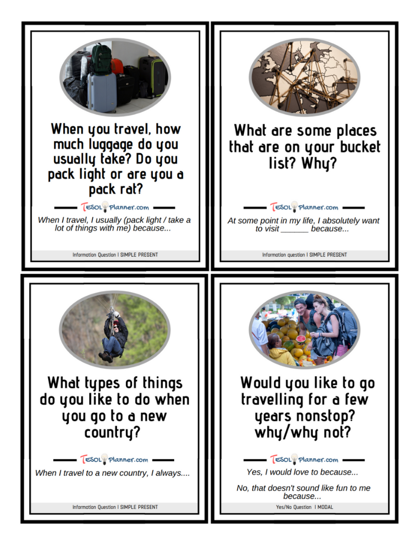 travel discussion cards